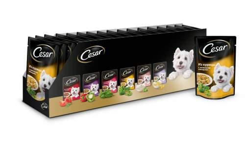 Миниатюра Влажный корм для собак Cesar, курица с зелеными овощами, 24шт, 100г №2