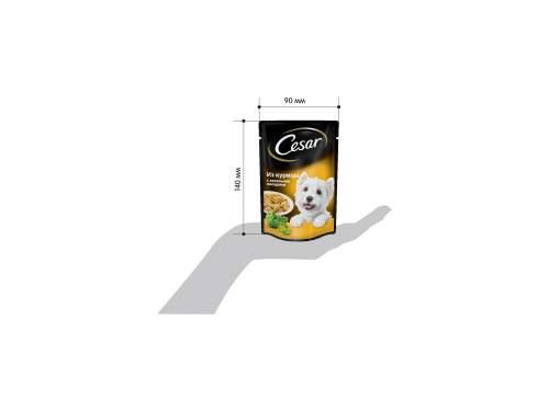 Миниатюра Влажный корм для собак Cesar, курица с зелеными овощами, 24шт, 100г №3