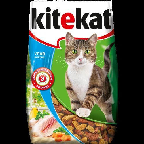 Миниатюра Сухой корм для кошек Kitekat, улов рыбака, 0,8кг №1