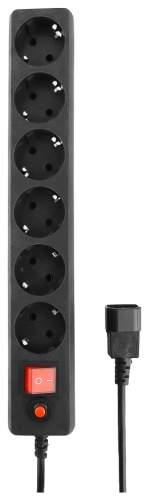 Сетевой фильтр Гарнизон EHB-0, 6 розеток, 0,5 м, Black