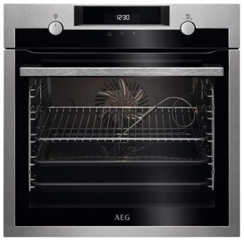 Встраиваемый электрический духовой шкаф AEG BCM546350M Silver