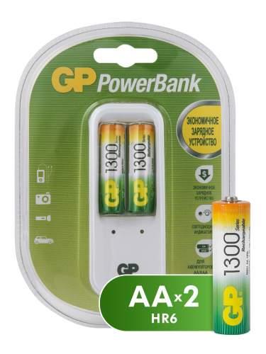 Зарядное устройство + аккумуляторы GP PB410GS130-2CR2 AA 2 шт. 1300 mAh