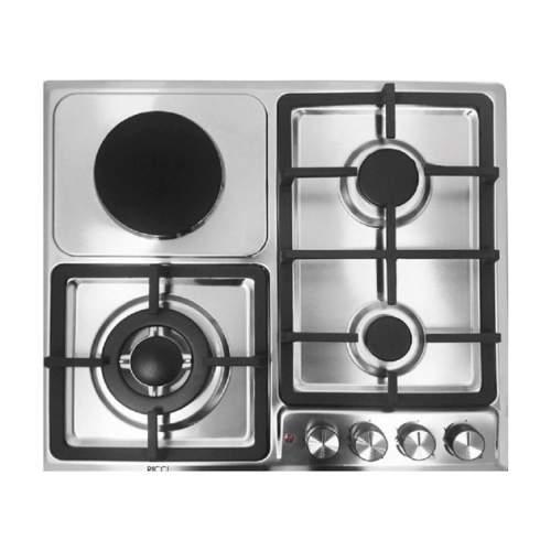 Встраиваемая газовая панель RICCI HBS4538E Silver