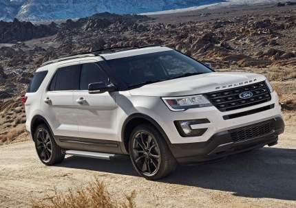 """Пороги на автомобиль """"Silver"""" Rival для Ford Explorer V 2010-2019, 193 см, F193AL.1802.1"""