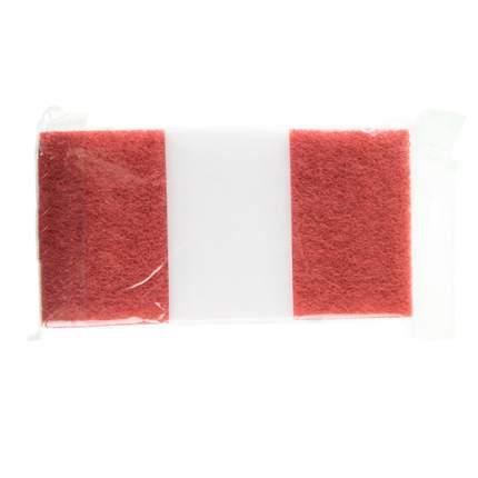 Губка меламиновая Kuchenland Clean с абразивной вставкой красно-белая 3 шт