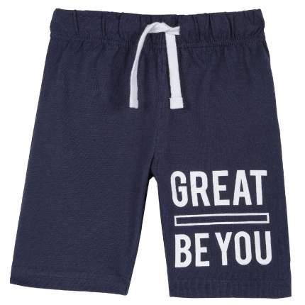 Шорты для мальчиков Chicco с надписью Great be you, цвет темно-синий, размер 122