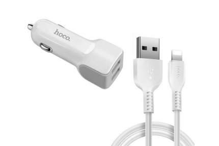 Автомобильное зарядное устройство HOCO z23 на 2 USB-порта 2.4А плюс кабель lightning