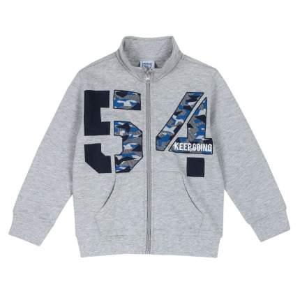 Толстовка для мальчиков Chicco с номером 54, цвет светло-серый, размер 122