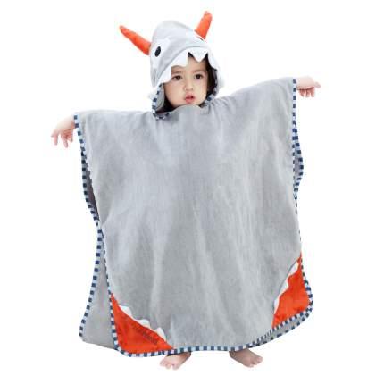 Детское полотенце-пончо Baby Fox Монстр, цвет серый, 140х70 см