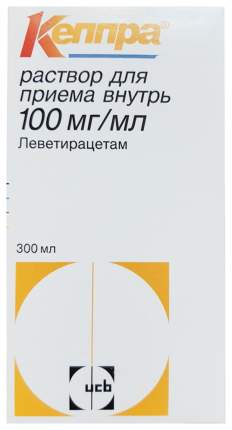 Кеппра раствор для приема внутрь 100 мг/мл фл.300 мл