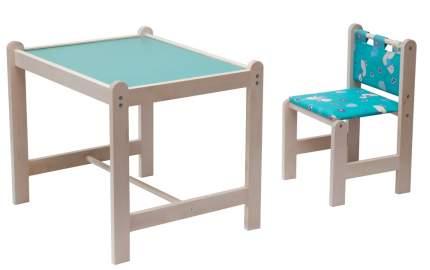 Комплект Гном стол + стул Малыш-2, 62x52 см, Утки зеленые