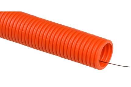 Труба EKF PROxima гибкая гофрированная тяжёлая с протяжкой 50м оранжевая