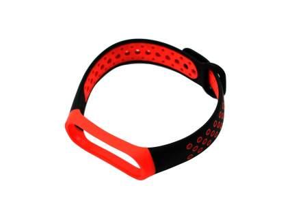 Ремешок для смарт-часов RED LINE для Xiaomi Mi Band 4/3 Black/Red (УТ000018233)