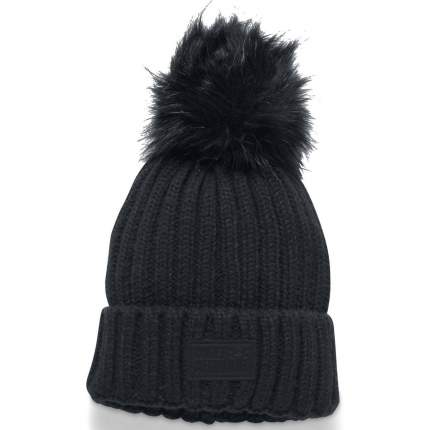 Женская шапка Under Armour Snowcrest Pom 1299905-001 2018, синий, One Size (54-58)