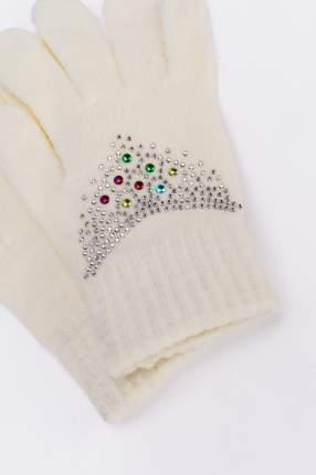 Перчатки для девочек Мария, цв. белый р.13-14