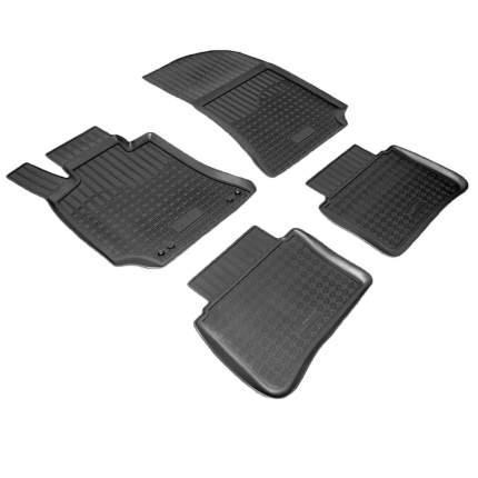 Коврики салона VW Polo Sed 2010- с бортиками полиуретановые черные NPPO9542