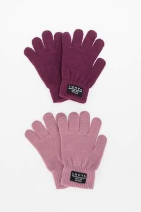 Комплект перчаток (2 пары) для мальчиков Luhta, цв. розовый