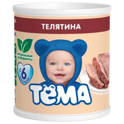 Пюре мясное Тёма Телятина с 6 мес. 100 г