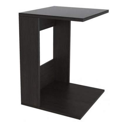 Журнальный столик Мебелик BeautyStyle 3 2297 45х45х61,5 см, венге/стекло чёрное