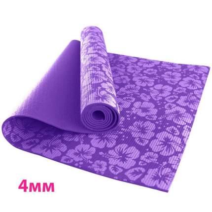 Коврик для йоги и фитнеса RamaYoga Flower фиолетовый 4 мм