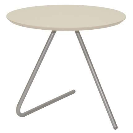 Журнальный столик Мебелик Дуэт 7 1694 50х50х49 см, металлик/бежевый