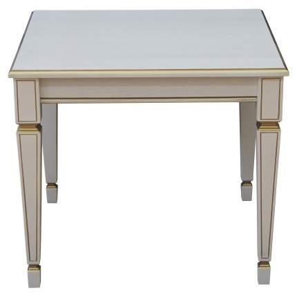 Журнальный столик Мебелик Васко В 82 В 82 60х60х52 см, белый ясень/золото