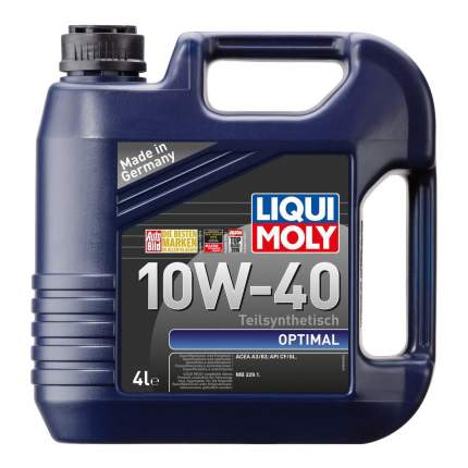 Моторное масло Liqui moly Optimal SAE 10W-40 4л
