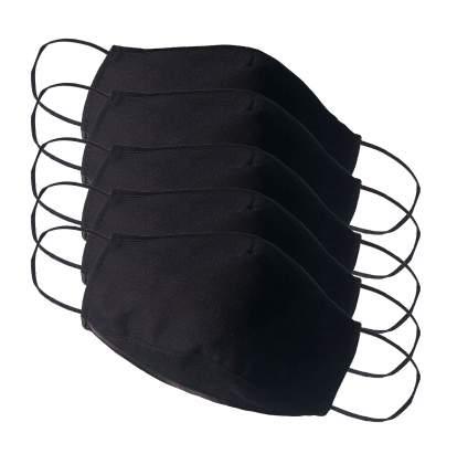 Многоразовая защитная маска Стар-текстиль 2Ч-5 черная 5 шт.