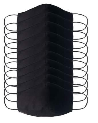 Многоразовая защитная маска Стар-текстиль 2Ч-10 черная 10 шт.