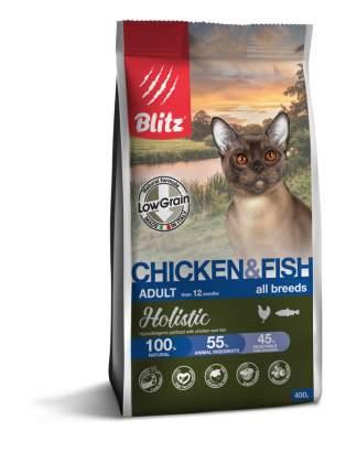 Сухой корм для кошек BLITZ  ADULT CAT CHICKEN & FISH курица и рыба, 0,4 кг