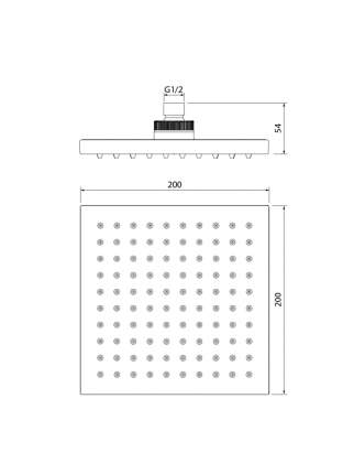 Душевая насадка верхняя квадратная IDDIS 00220SPi64
