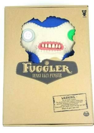 Мягкая игрушка Spin Master бело-голубой монстр Fuggler, 27 см