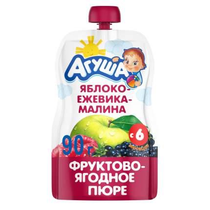Пюре фруктовое Агуша Яблоко, ежевика, малина с 6 мес. 90 г