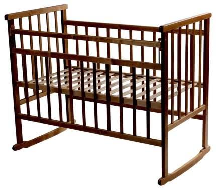 МОЙ МАЛЫШ Кровать детская 02 качалка темный ММ2-2