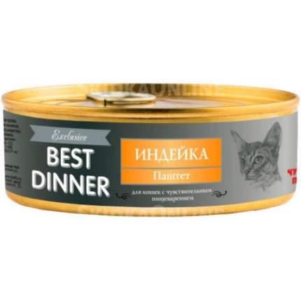 Консервы для кошек Best Dinner Exclusive, паштет из индейки, 24шт по 100г