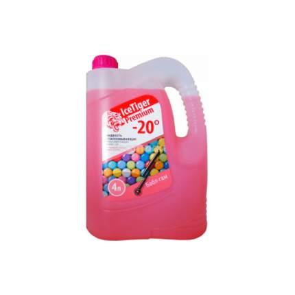 Жидкость для стеклоомывателя зимняя Ice Tiger Premium -20 (розовая бабл гам) 2042004