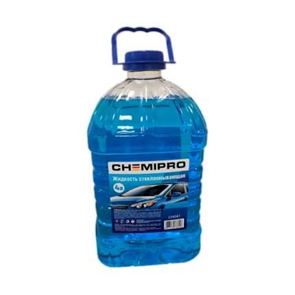 Жидкость для стеклоомывателя зимняя 4L готовая -20°С, изопропиловая/ CHEMIPRO CH040
