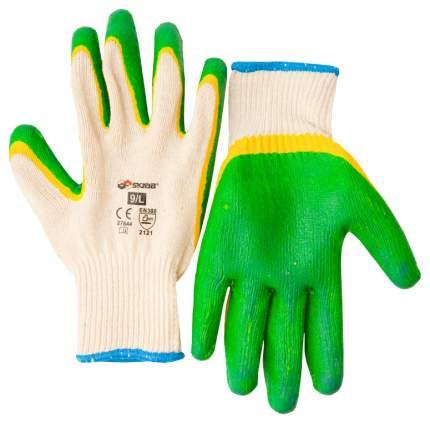 Перчатки текстиль с дв. латексным риф. покрытием 9/L SKRAB 27644