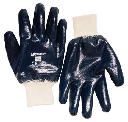Перчатки х/б с нитрил.глад.покрытием/манжета 10/XL SKRAB 27671