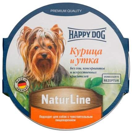 Консервы для собак Happy Dog NaturLine, паштет с курицей и уткой, 11шт по 85г