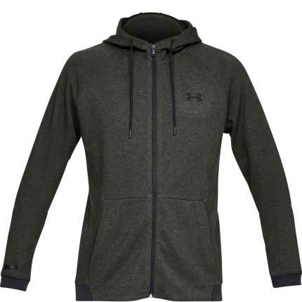 Толстовка Under Armour Sportstyle 2X Hooded Full Zip, 357 зеленая, SM