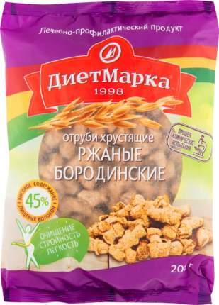 Отруби ржаные ДиетМарка хрустящие бородинские 200 г
