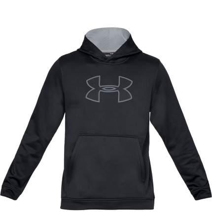 Толстовка Under Armour Big Logo Hooded, 001 черная, XS