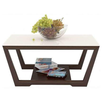 Журнальный столик Мебелик BeautyStyle 1 139 70х70х43 см, венге/стекло бежевое
