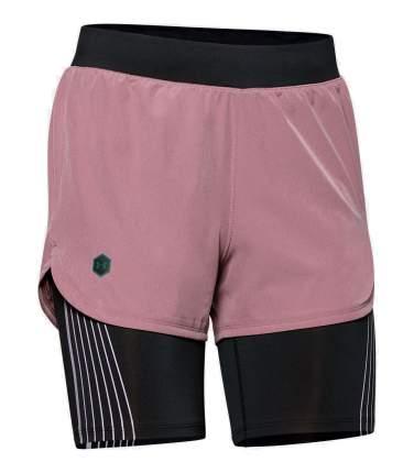 Спортивные шорты Under Armour W UA Rush Run 2-in-1 Short, 662 розовые, SM