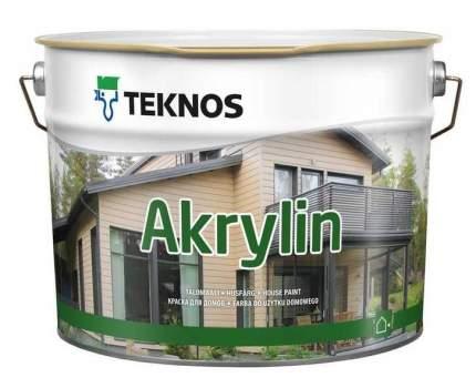 Краска фасадная для дерева Teknos Akrylin / Текнос Акрилин 0,9л.