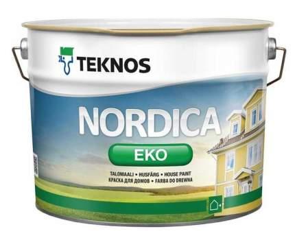 Краска фасадная по дереву Teknos Nordica Eko / Текнос Нордика Эко 0,9л.