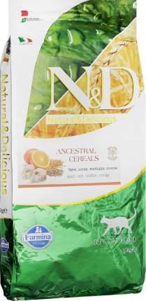 Сухой корм для кошек Farmina N&D Ancestral Cereals, низкозерновой, треска и апельсин, 10кг
