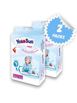 Детские одноразовые пеленки YokoSun 60*90 , 10 шт. X 2 шт.