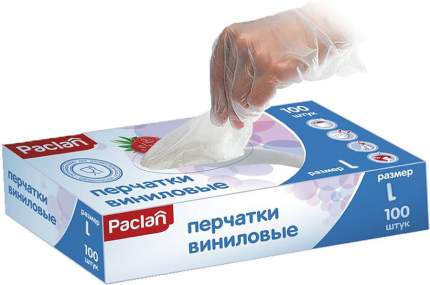 Перчатки виниловые размер L 100 шт